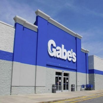 Front entrance of Gabe's located in The Gallery shopping center in South Carolina.